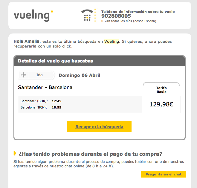 mailing-vueling